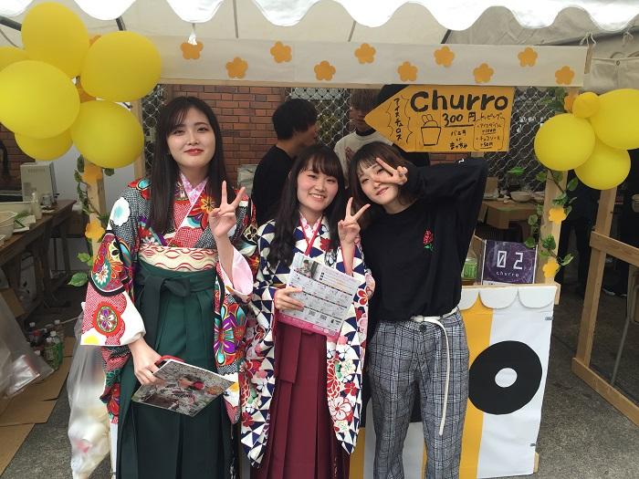 2019学園祭ブース「churro!!」情報ビジネス学科1年生チュロス販売!